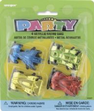 Metal Racing Cars 4Pk